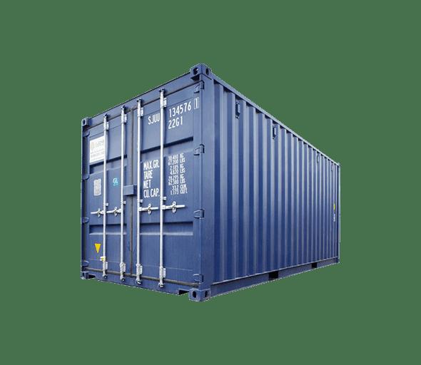 контейнер синий для перевозки грузов